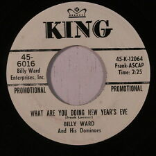 BILLY WARD & DOMINOES: What Are You Doing New Year's Eve / O Holy Night 45 (dj)