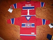 Montreal Canadiens Toddler Kids Reebok NHL Hockey Jersey add  name & number