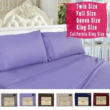 1600 Count 4 Piece Bed Sheet Set Deep Pocket 6 Color 5 Size Chemical Lace New
