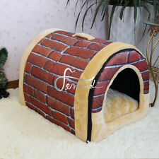 Foldable Soft Pet Bed Dog Cat House Kennel Mat Pad Warm Washable Puppy Cushion