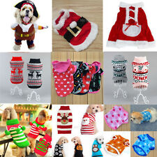 Cool Pet Dog Christmas Clothes Dress Puppy Cat Knit Sweater Coat  Hoodie Apparel