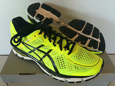 NEW Men's Asics Gel-Kayano 22 Running Shoe Flash Yellow/Black/Silver #T547N 0790