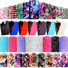 Leather Wallet Flip Top Opens Case Cover For Various Sony Xperia Experia Phones