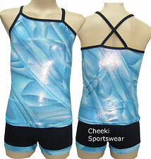 Size 6 - Singlet Top/Shorts Set - Leotard Gymnastic Dance