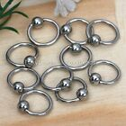 10p New Captive Ear Lip Nose Eyebrow Stainless Ring 16G