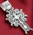NEW RUSSIAN ORTHODOX ICON CROSS, STERLING SILVER 925. GOLGOTHA CROSS. PRAYER.