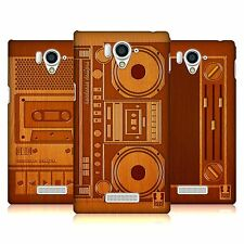 HEAD CASE DESIGNS GADGET DI LEGNO COVER RETRO RIGIDA PER SHARP TELEFONI