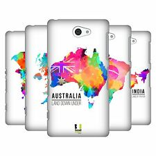 HEAD CASE DESIGNS WATERCOLOURED MAPS HARD BACK CASE FOR SONY PHONES 4