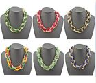 New Europe Style Multilayer Gold Plated Colorful Glazed Snake Chain Necklace