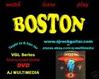 Custom Guitar Lessons, Learn Boston - DVD Video - Clear Case Discount!