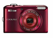 Nikon Red COOLPIX L28 20.1MP Digital Camera with 5x Optical Zoom (26395)