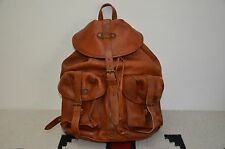 Ralph Lauren RRL Distressed Full Leather Riley Backpack Rucksack Bag