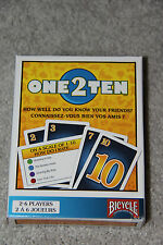 BICYCLE ONE 2 TEN CARD GAME - HOW WELL DO YOU KNOW YOUR FRIENDS?  2-6 PLAYERS