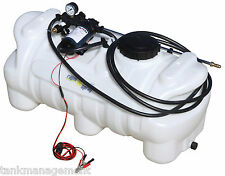 95L 12 volt ATV spot garden weed sprayer spray tank DELAVAN pump 7.7pm 60psi