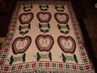 APPLES-RED AND GREEN.APPLE CORES. AFGHAN/THROW/BLANKET/TAPESTRY.WEAVED