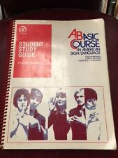 Student Study Guide to a Basic Course in American Sign Language, Frances De Capi