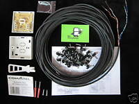 25m Black 2 Pair External Telephone Cable Extension Kit