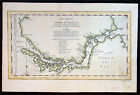 1753 Bellin Antique Map of the Magellan Straits, South America
