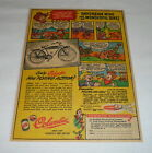 1948 Columbia bicycle cartoon ad page ~ DAYDREAM MIKE+REDSKINS