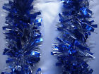 Blue & Gold Tinsel Christmas Decorations Tree 9 cmx2m