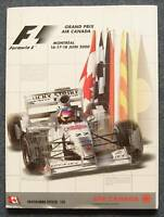 CANADIAN GRAND PRIX F1 Montreal Official Programme 2000