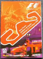 SPANISH GRAND PRIX F1 Catalunya Official Programme 1998