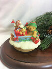 Cherished Teddies Candle Topper Bear on Sled NIB
