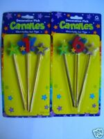 16th Birthday Cake Candles on Sticks (Party){AA}*