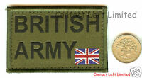 NEW OFFICIAL Velcro GREEN UBACS British Army ID PATCH