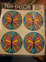 Vintage Retro Meyercord TEX-DECAL TRANSFER Butterflies
