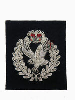 New Official Army Air Corp Officers Cap Badge (hand wire embroided