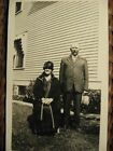 Vintage Photo~Older Couple In Front Of House~1920's
