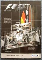 GERMAN GRAND PRIX F1 Hockenheim Official Programme 2000
