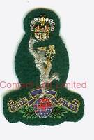 Royal Signals Commando Officers Cap Badge Wire Embroided ( Jimmy SBS Elite