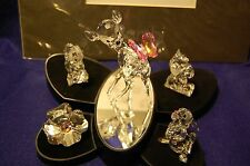SWAROVSKI DISNEY COMPLETE CRYSTAL BAMBI SET WITH STAND PLUS LITHOGRAPH