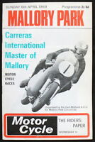MALLORY PARK CARRERAS INT MASTER OF MALLORY MOTORCYCLE RACE PROGRAMME 6 APR 1969