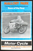 MALLORY PARK CARRERAS 1,000 GUINEAS INT MOTORCYCLE RACE PROGRAMME 20 SEPT 1970