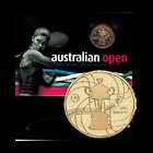 2012 $1 Australian Open Women's Uncirculated Al/Br Coin in Card