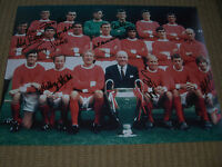 MANCHESTER UTD 1968 European cup MULTI in person signed 12x16 BOBBY CHARLTON