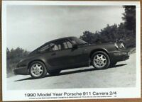 PORSCHE 911 CARRERA 2/4 PRESS PHOTOGRAPH CIRCA 1990 BLACK & WHITE