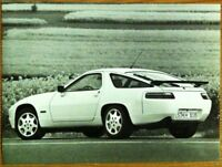 PORSCHE 928 GT PRESS PHOTOGRAPH CIRCA 1990 BLACK & WHITE