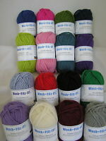 SMC WASH + FILZ-IT! x 50g Chunky Felting Wool for Knitting 100% Wool ~ Many Cols