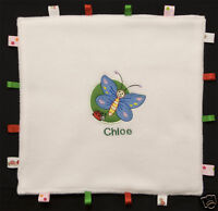 Soft Fleece Comfort taggy animal Blanket PERSONALISED with any name boy girl new