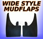 2 x 9 inch WIDE Large Mudflaps Mud Flaps Guards Pair - All Rubber & Flexible