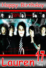 MY CHEMICAL ROMANCE A5 Personalised Birthday Card!! ANY NAME / AGE GREAT !!!!!