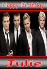 WESTLIFE LARGE A5 Personalised Birthday Card!! ANY NAME / AGE GREAT !!!!!