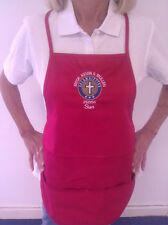 COLUMBIETTES CUSTOM EMBROIDERED MONOGRAM APRON ( FREE SHIPPING )