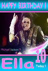 MICHAEL JACKSON GORGEOUS, LARGE A5 Personalised Birthday Card Any Name / Age!!