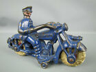VINTAGE CAST IRON CHAMPION HUBLEY POLICE MOTORCYCLE TOY