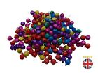 50 x 6mm Mixed Colour Christmas Bells Charm Pendant Jewellery Beads L21